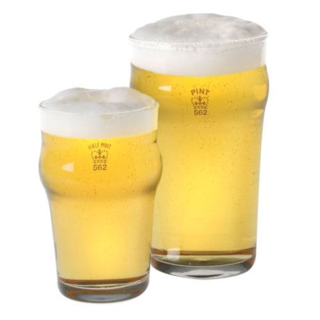 Authentic British Pub Glasses: Pint Glasses