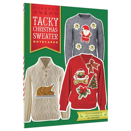 DIY Tacky Christmas Sweater Notecards