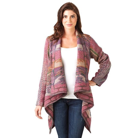 Monet Waterfall Womens Jacket