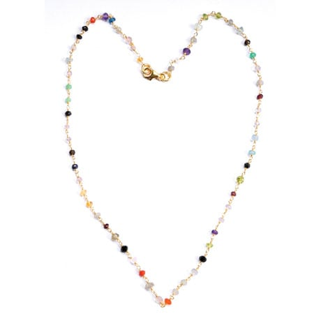 Beaded Rosary Style Chain Necklace