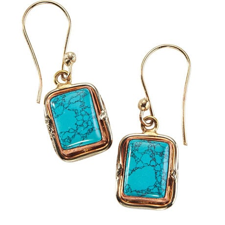 Quadra Turquoise Cuff Earrings