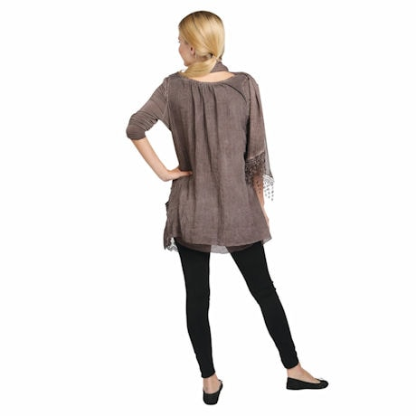 Cable Knit Tunic Set