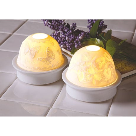 Embossed Porcelain Accent Lights - Butterflies