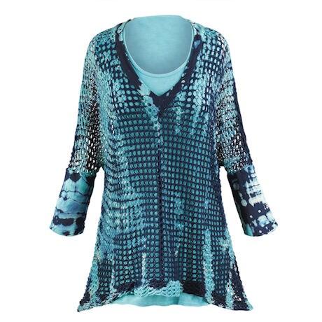 Crochet Tie-Dye Tunic Set