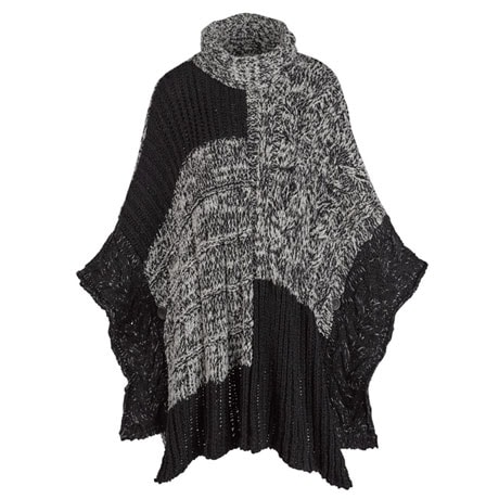 Marled Sweater Poncho