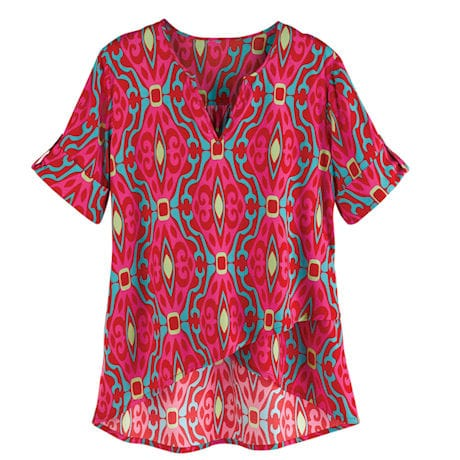 Poppy Abstract Printed Tunic Top