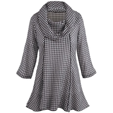 Gingham Check Tunic Top