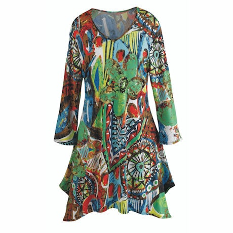 Crazy Colorful Tunic Top