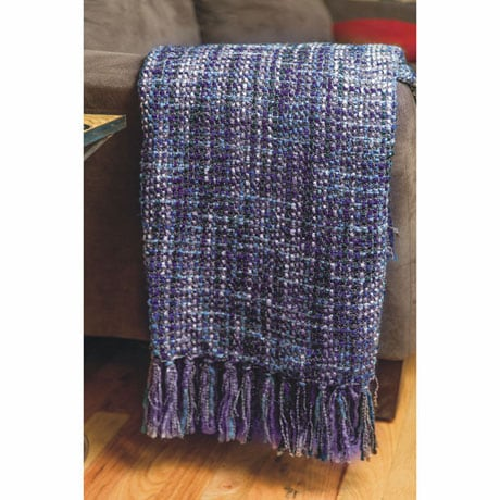 Violet Tweed Throw
