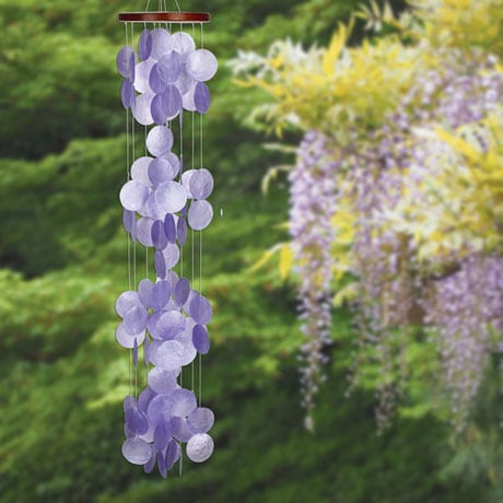 Violet Capiz Waterfall Chimes