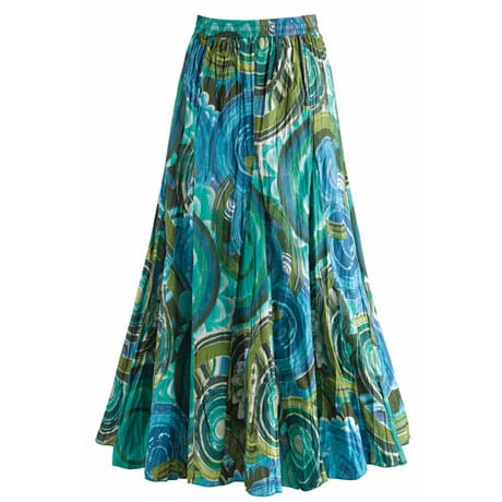 Circles In The Sky Broomstick Skirt