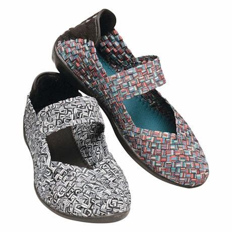 Mary Jane Stretch Pattern Shoe