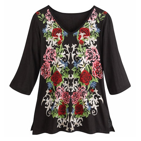 Mirror Of Flowers Tunic Tee