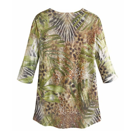 Wild Cheetah Tunic Top