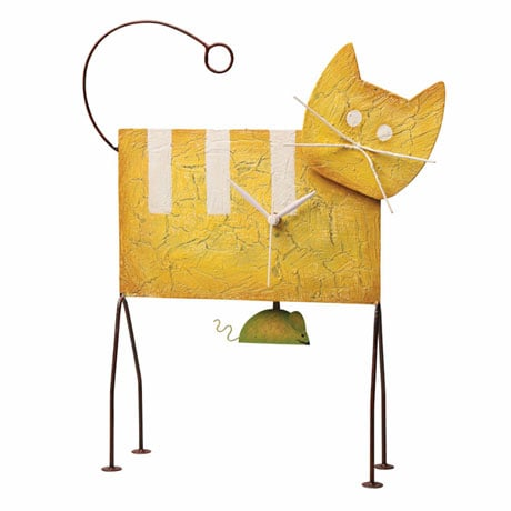 Whimsical Cat Pendulum Clock