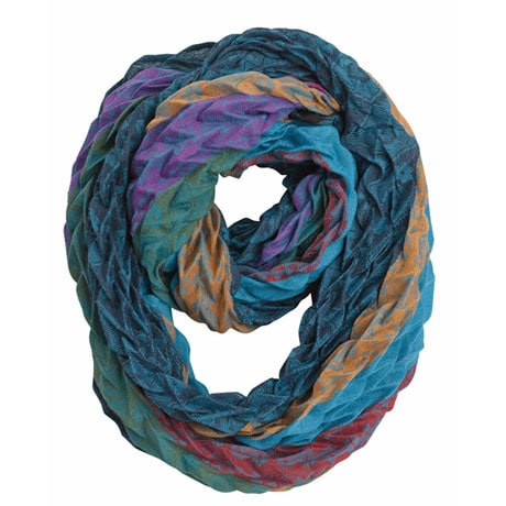 Accordion Stripes Infinity Scarf