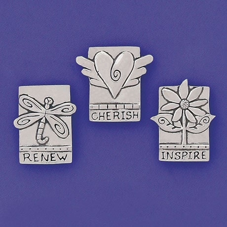 Inspire Pewter Magnets Set