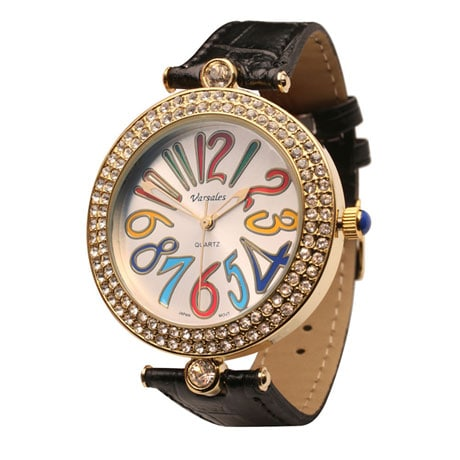 Crayon Colors Leather Band Watch