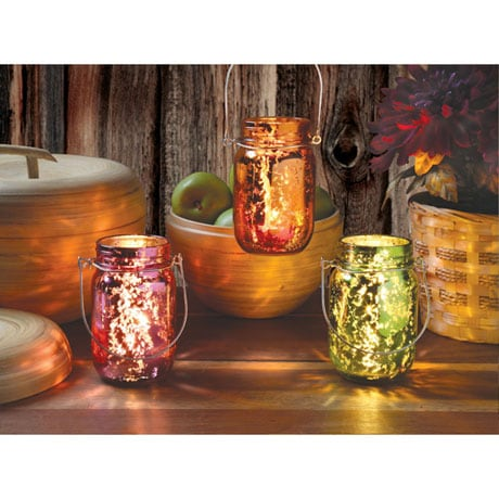 Fresh Citrus Mercury Glass Candle Jars Set