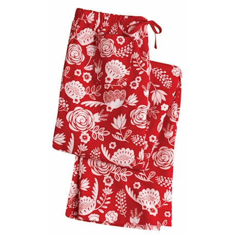 Flower Bed Lounge Pajama's - Flannel Boxer Pants