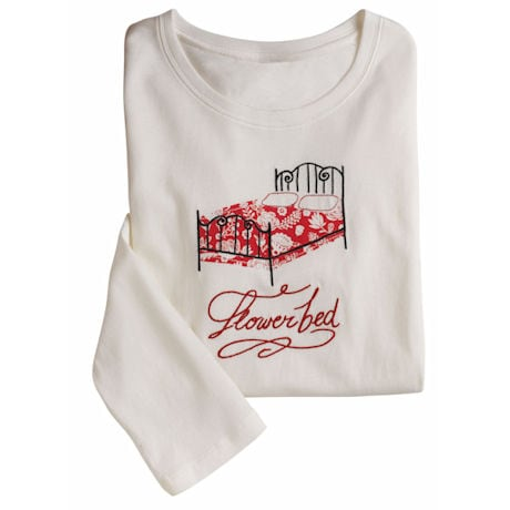 Flower Bed Lounge Pajama's - Sleep Tee