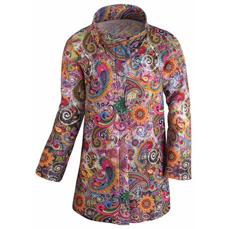 Happy Paisley Knit Jacket