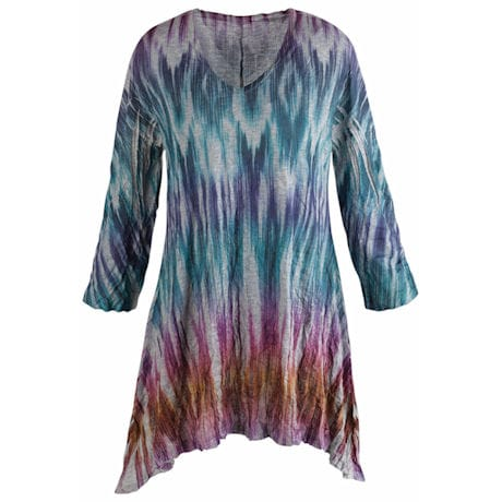 Rainbow Batik Print Tunic Top
