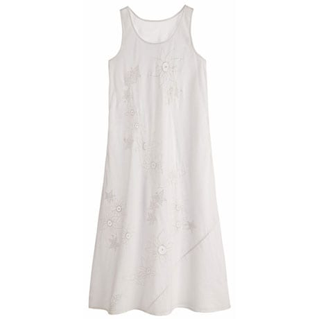 Embroidered Cotton Chemise Nighty