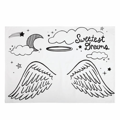 Color 'n Doodle Pillowcase - Angel