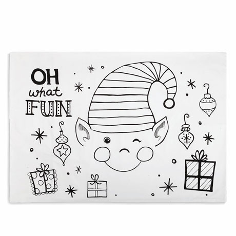 Color 'n Doodle Pillowcase - Elf