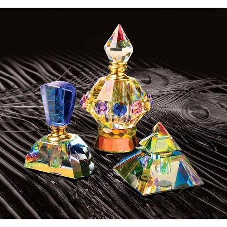 Crystal Perfume Bottle - Cobalt
