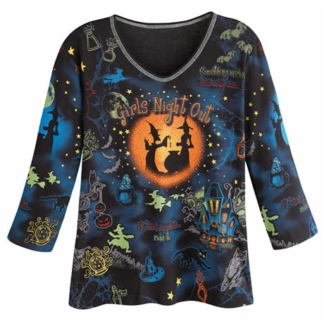 Girls Night Out Halloween Top