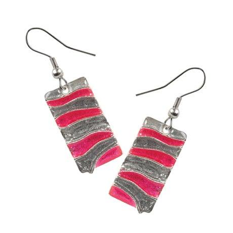 Wild Wave Earrings - Rose