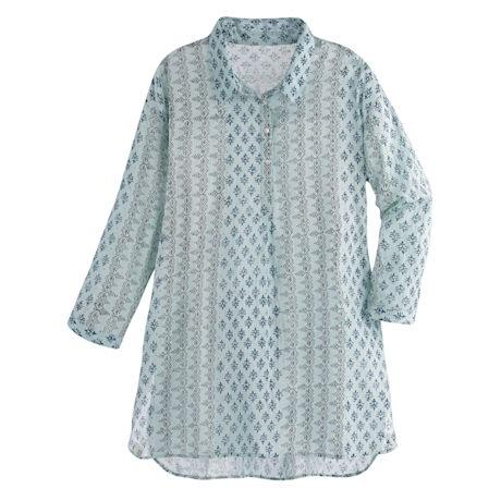 Cool Mint Long Shirted Tunic