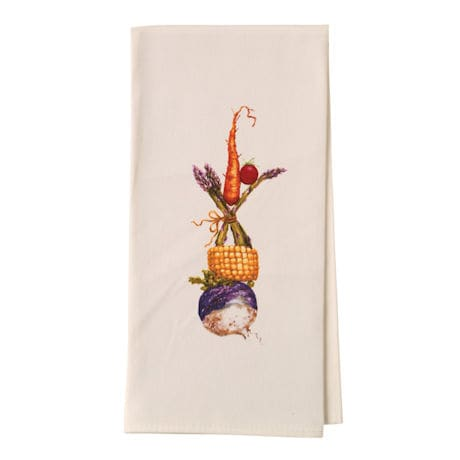 Country Critters In Hats Tea Towels - Rooster