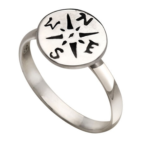 Sterling Compass Ring