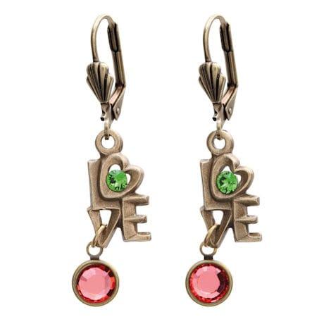 Swarovski™ Crystals Love Earrings