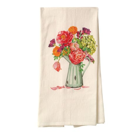 Farm Stand Flowers Tea Towel