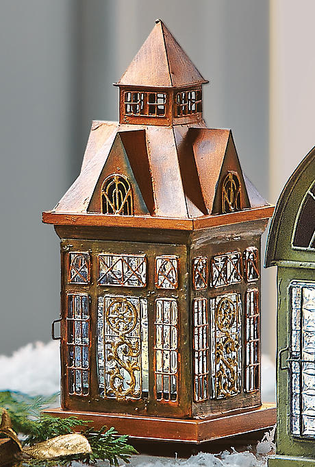 Architectural Tea Light Candle Lantern: Ellington