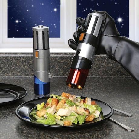 Star Wars™ Darth Vader Anakin Luke Skywalker Rey and Finn Lightsaber Salt & Pepper Mills