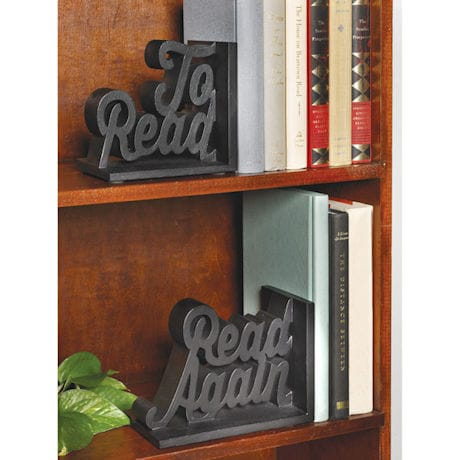 To Read/Read Again Bookends
