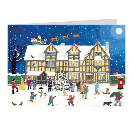 British Buildings Advent Cards - Set of 4