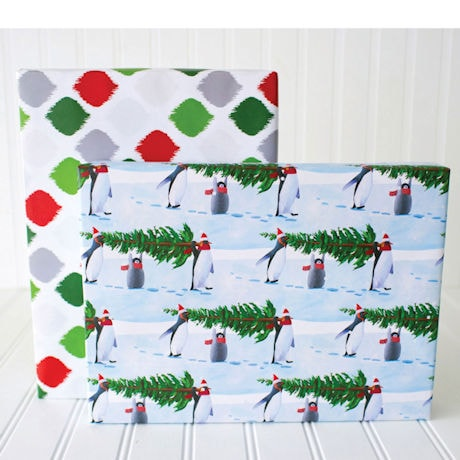 Penguin Tree Gift Wrap