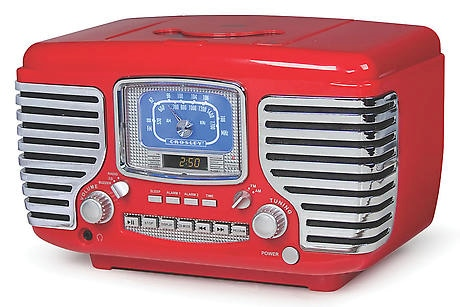 Corsair Clock Radio/CD Player with Bluetooth - Red