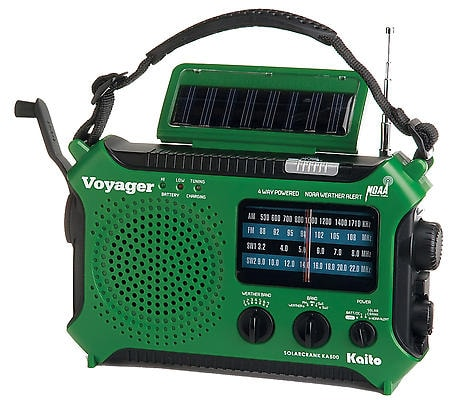 Solar-Powered Emergency Radio: Green