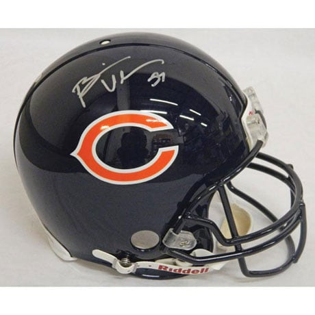 Autographed Replica NFL Helmets - Brian Urlacher/Bears