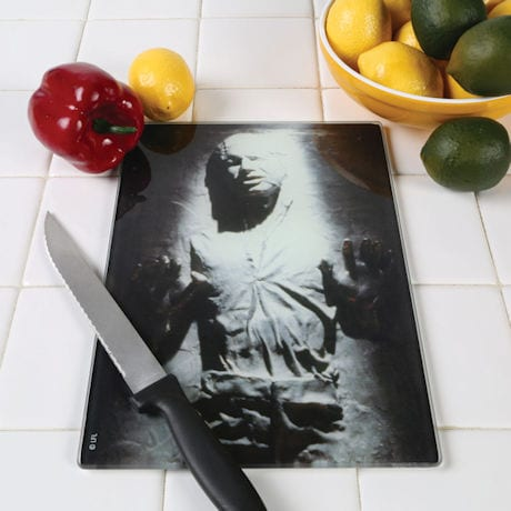 Star Wars™ Han Solo Frozen In Carbonite Glass Tempered Cutting Board
