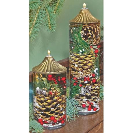 Berries and Pinecones Oil Lamp