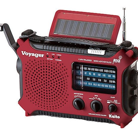 Solar-Powered Emergency Radio: Red