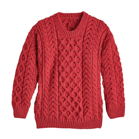 Kids' Aran Pullover Sweater